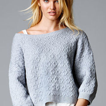 Textured Sweater - A Kiss of Cashmere - Victoria's Secret