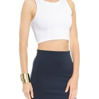 David Lerner Sleeveless Crop Top