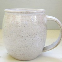 made to order large white handmade ceramic by JDWolfePottery