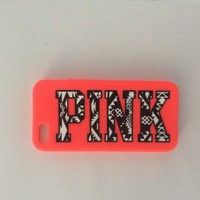 Victoria's Secret PINK iPhone 5/5s Case - Red/ Pink Aztec Emblem