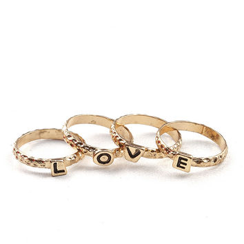 Love Letters Midi Ring Set | Ring Sets at Pink Ice
