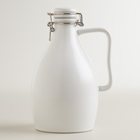 Matte White Ceramic Beer Growler - World Market