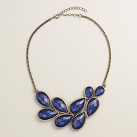 Blue Bead Bib Statement Necklace - World Market