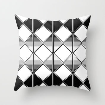 Triangles Throw Pillow by VanessaGF