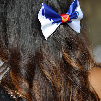 Sailor Moon Hair Bow - Dimeycakes - Hair Bows, Cases, & Apparel