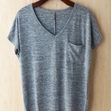 Oh So Cozy Tee, Heather Gray