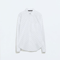 JACQUARD MINI POLKA DOT SHIRT