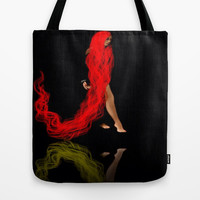 RED #2 (reflection) Tote Bag by    Amy Anderson
