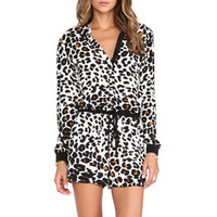 Maxen Printed Romper in Jaguar