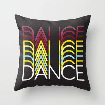 Dance Throw Pillow by Ornaart