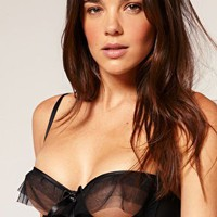 Lascivious | Lascivious Kitty Cupless Satin Bonded Bra at ASOS