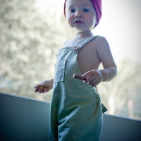 $32.00 Custom Tom Sawyer Overalls Under Knee style 36m to 4y by bebeloo