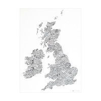 British Isles Word Map