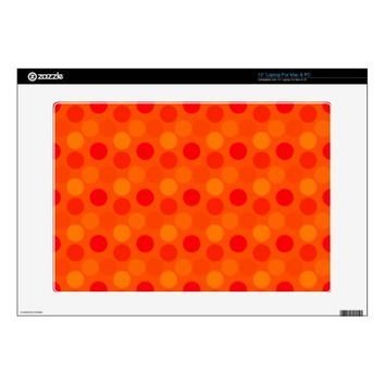 Seeing Dots Orange Laptop Skin