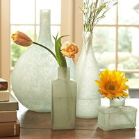 Sea Glass Bottles, Set of 4 | Pottery Barn
