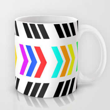 Rainbow Pop Zig Zag Mug by Lisa Argyropoulos | Society6