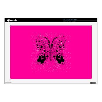 Butterfly Sparkles HOT PINK Laptop Skin