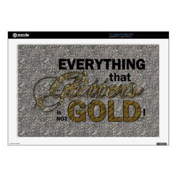 Everything that Glitters Vinyl Laptop Skin