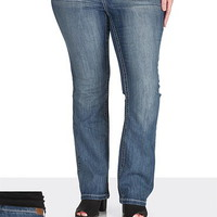 ellie medium wash slim boot plus size jeans