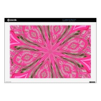 6 Petals Abstract Pink Vinyl Laptop Skin