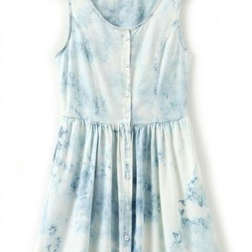 Distress Denim Dress - OASAP.com
