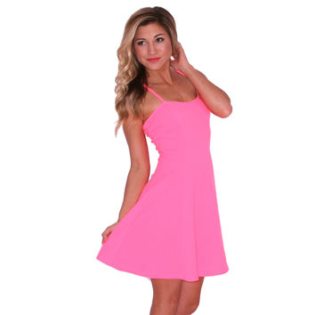 Retail Therapy Mini in Neon Pink