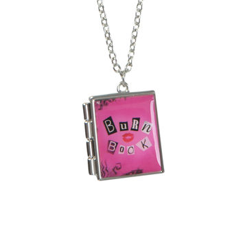 Mean Girls Burn Book Locket Necklace