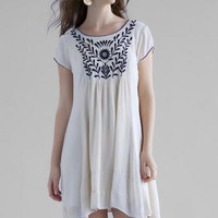 ABBIE EMBROIDERED DRESS