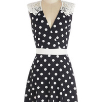 Everlasting Loveliness Dress in Dots | Mod Retro Vintage Dresses | ModCloth.com