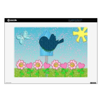 Spring Makes Me Smile Laptop Skin