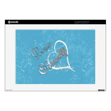 Love Yourself Scroll Work Laptop Skin