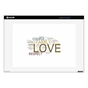 Marriage Word Cloud Laptop Skin