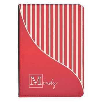 Personalize Sophisticated Red / White Stripes
