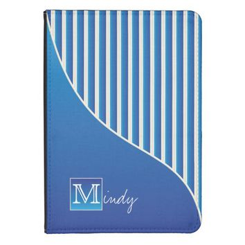 Personalize Sophisticated Blue / White Stripes