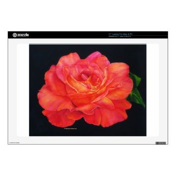 Multi-colored Rose Painting Vinyl Laptop Skin