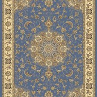 Traditional Area Rug, Supreme Light Blue 2'x7'
