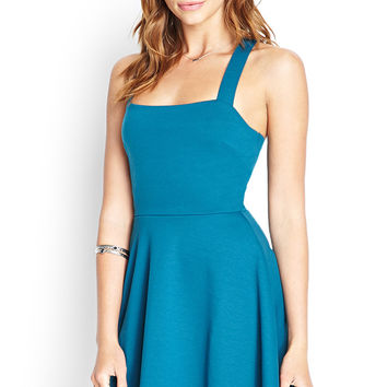 Crossback A-Line Dress