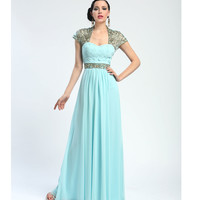Sue Wong Summer 2014 - Turquoise Vine Evening Gown