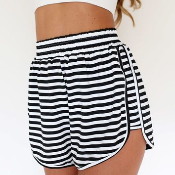 Cable Stripe Shorts | SABO SKIRT