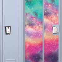 Colored Galaxy Magnetic School Locker Wallpaper
