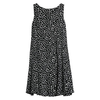 Buy Mango Printed Flared Dress, Black/White | John Lewis