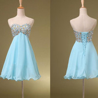 Blue homecoming dress, short homecoming dress, cheap homecoming dress, junior homecoming dress, short homecoming dress