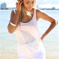 Hully White Tank | SABO SKIRT