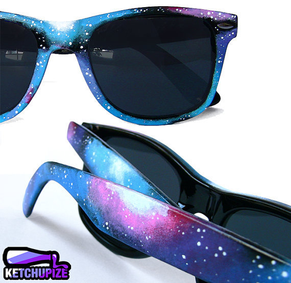 Galaxy Nebula Wayfarer style sunglasses by ketchupize