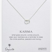 Dogeared 'Karma' Boxed Link Pendant Necklace