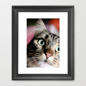 Tiger Lili 2 Framed Art Print by Steffi ~ findsFUNDSTUECKE