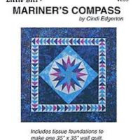 Mariner's Compass Quilt Pattern by Cindi Edgerton, Wall Hanging Pattern