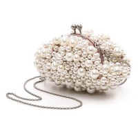 Imitation Pearl Clutch