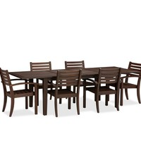 CHESAPEAKE RECTANGULAR EXTENDING DINING TABLE & CHAIR SET