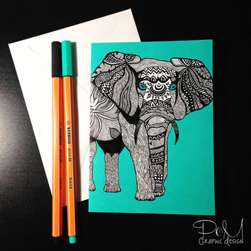 Elephant of Namibia Greeting Card | Thank You Card | Birthday Card | Notecard